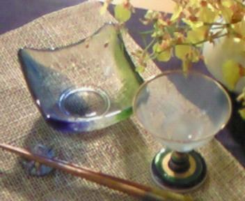 七夕の食前酒と前菜の器
