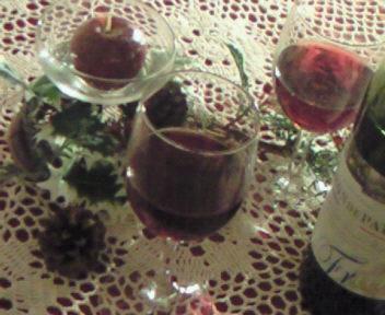 赤ワインで乾杯~♪