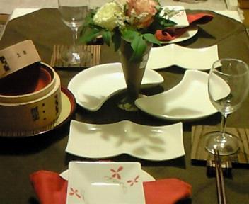 おもてなし中華のテーブル