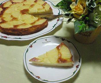 パイナップルのチーズケーキ♪