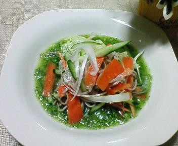蕎麦サラダのイタリアン風♪