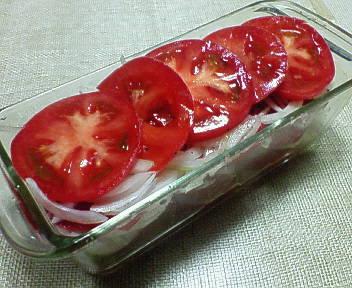 トマトと玉葱のマリネ風♪