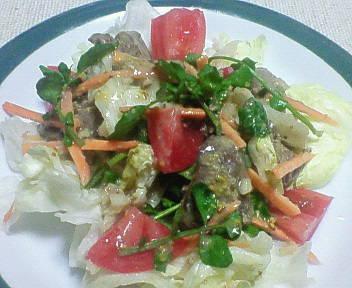 鶏レバーのサラダ☆