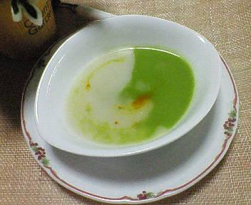 グリーンピースと玉葱のスープ☆