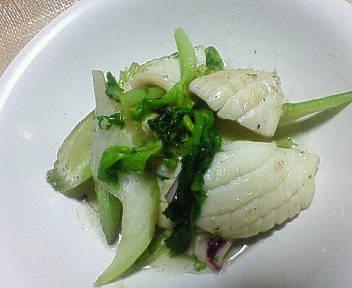 イカとセロリのフランス炒め☆