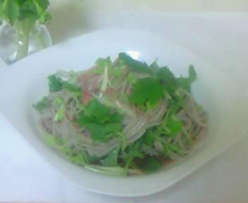 和風野菜の蕎麦サラダ♪