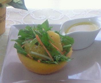 夏みかんと水菜のサラダ♪