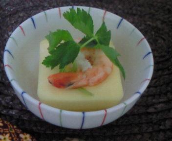 卵豆腐の椀盛り
