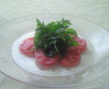 トマトとクレソンのサラダ!