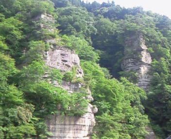 断崖を見上げて、、。