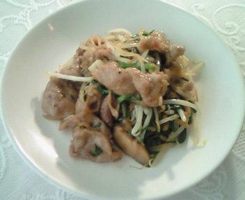 豚肉と色々野菜の牡蠣油炒め