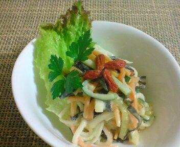 彩り野菜の胡麻マヨネーズ和え