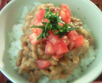 トマト納豆丼♪