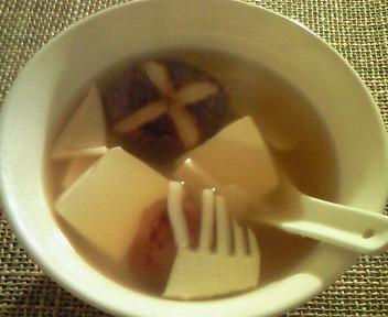 椎茸の中華スープ