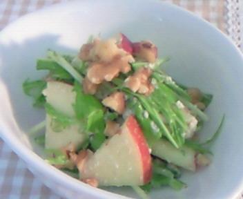 林檎と水菜の白酢和え♪