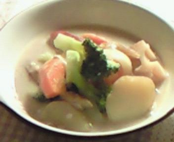 冬野菜の豆乳マクロビシチュー☆