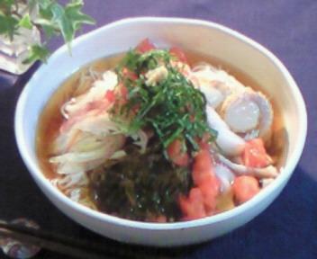夏味☆サラダ素麺〜♪