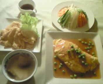 料検〜卵主菜の中国式夕食献立〜♪♪
