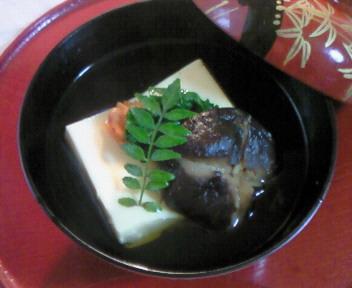 料検〜卵豆腐の椀盛り〜