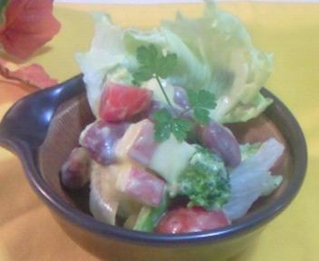金時豆とリンゴの味噌サラダ☆