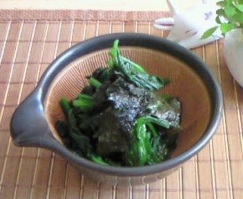 青菜の海苔和え