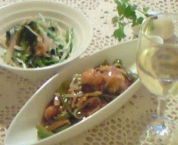 自然食で中華料理を〜♪