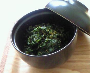 ふきの葉の佃煮。
