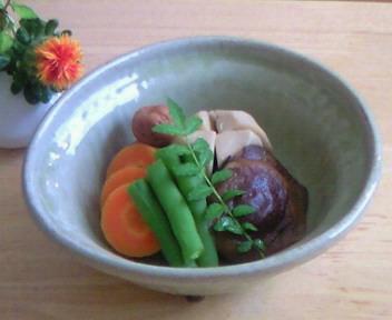 人参梅煮と野菜の炊き合わせ