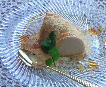 きな粉と豆腐のババロア。