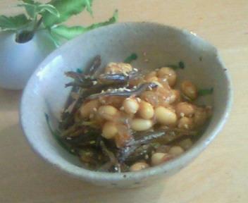 大豆と煮干の和風マリネ