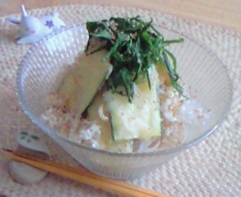 ズッキーニの天盛りと塩麹素麺のマリアージュ☆