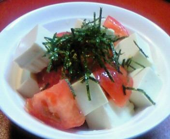 豆腐とトマトのシンプルサラダ☆