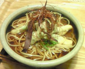 山菜天盛り蕎麦〜。