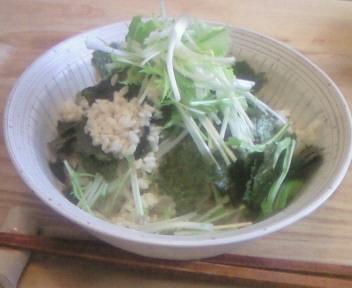 水菜と塩麹のサラダ素麺〜命の根☆